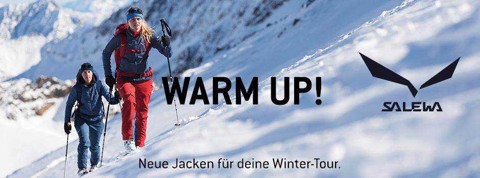 Salewa warm up! Neue Jacken für deine Wintertour.