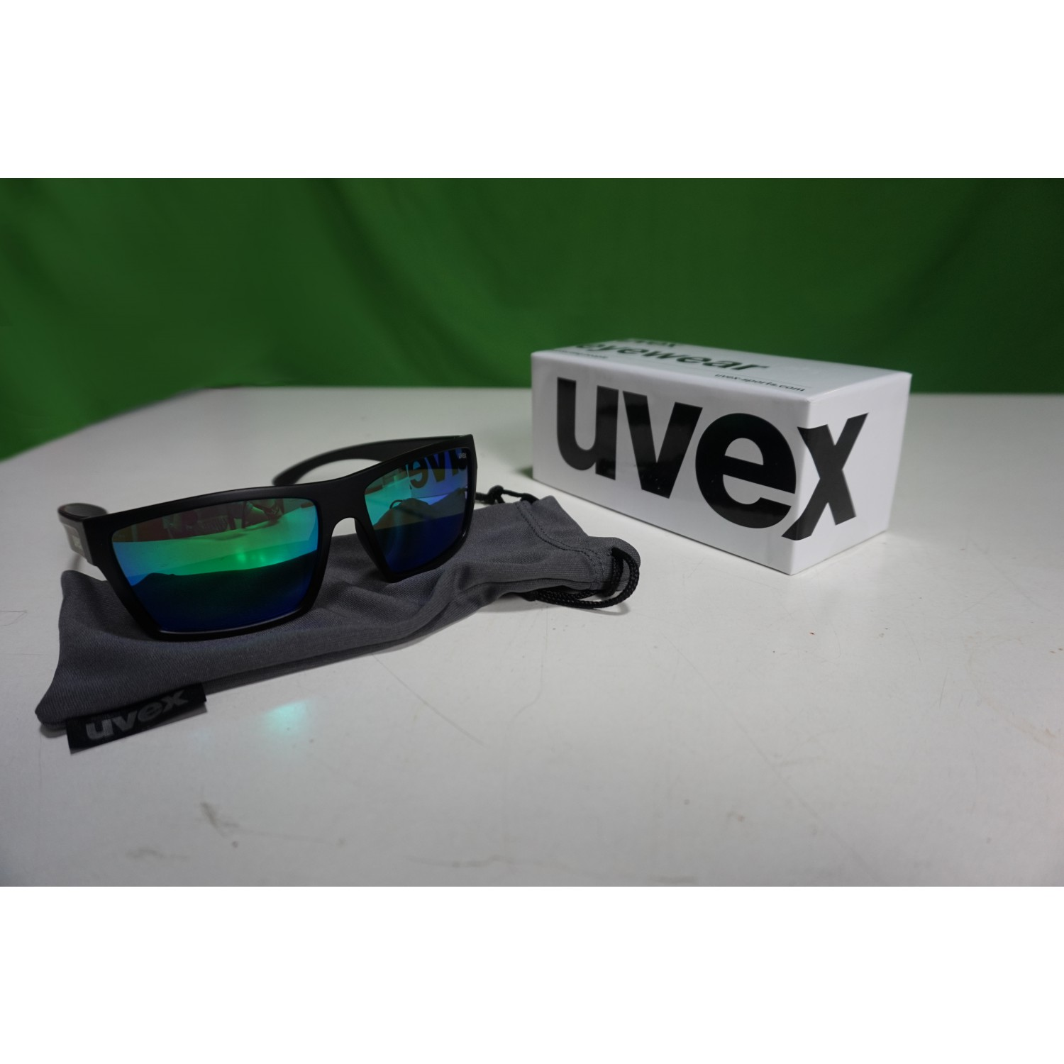 Uvex LGL 29 - black mat/mirror green PWakCk44