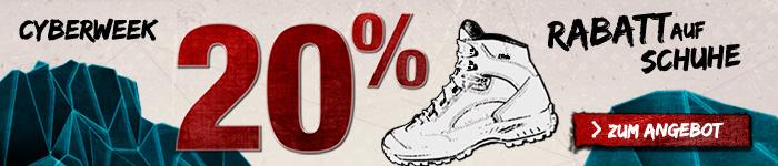 20% auf Schuhe