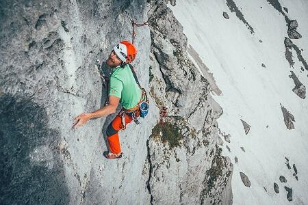 Alpines Klettern im Massiv des Wilden Kaisers