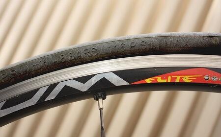 Angaben zum minimalen und maximalen Luftdruck auf dem Reifen