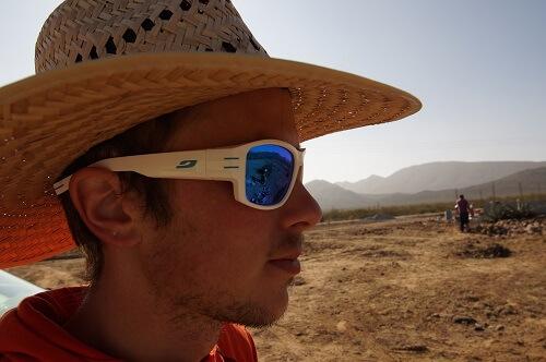 Ein Hut schützt vor Hitze durch Sonneneinstrahlung