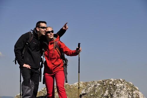 Teleskopstöcke sind ideal bei Bergtouren