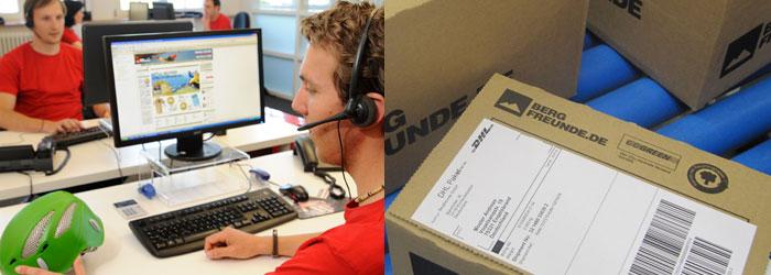 Wir sind für Dich da! Unser Kundenservice berät - die Logistik sorgt für eine schnelle Lieferung
